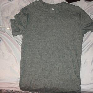 slim fit dark greenish gray t shirt
